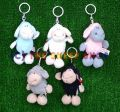 10cm Black string sheep Keyring