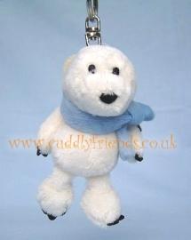 10cm Nici Polar Bear keyring