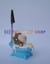 Picture Stand - Sheep in bath tub