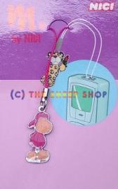 30mm Pink Metal Pendant