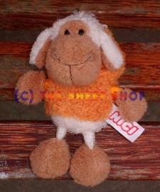 10cm Orange string sheep Keyring