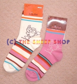 Nici Sheep Socks - Pink Large