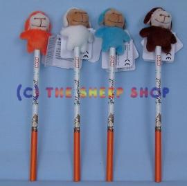 Sheep pencil - Blue topper