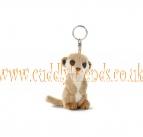 10cm Bean Bag Meerkat Keyring